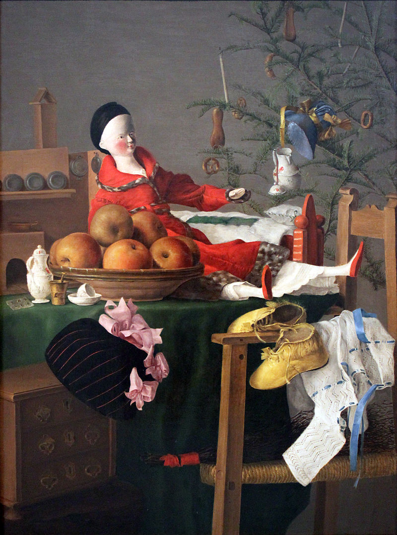 Christmassy table of gifts for a girl Unknown - Germanisches Nationalmuseum