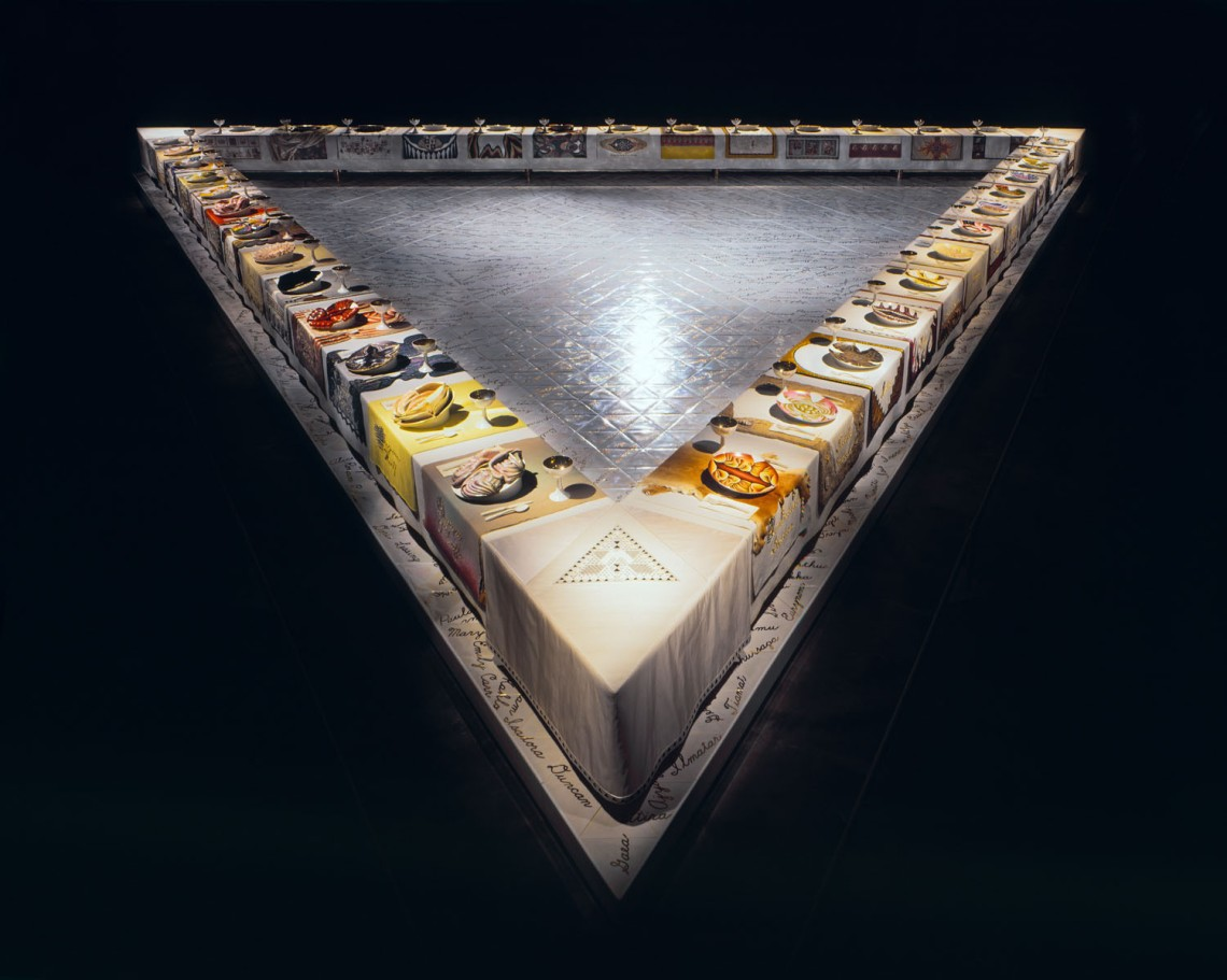 judy chicago - the dinner table