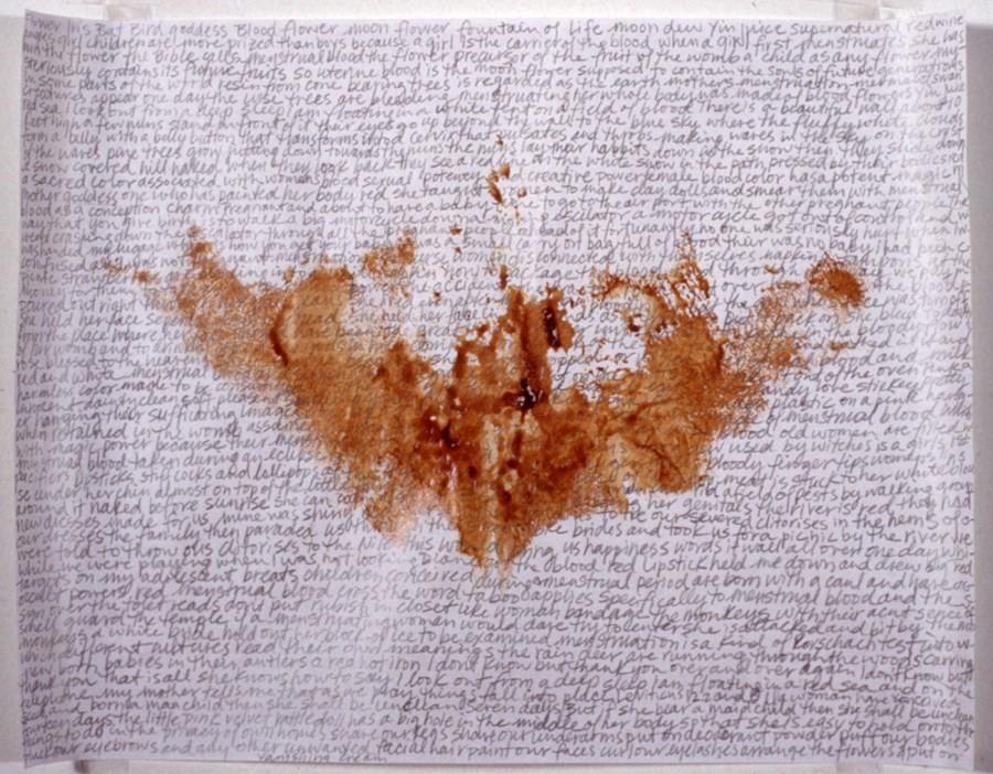 "Portia Munson ""Menstrual print with text"""