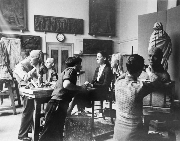 Students in the Royal Academy Schools, 1953, 1953